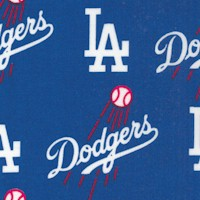 Los Angeles Dodgers - Tossed Logos - 58 Inches Wide!