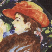 At the Museum - Impressionist Artist Collage