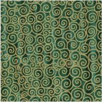 Tivoli - Klimt-Inspired Gilded Scroll on Green