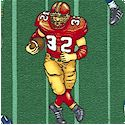 Sports Club - Football Players on the Field by Dan Morris- BACK IN STOCK!