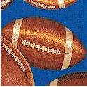 Touchdown - Official Size - Tossed Large Scale Footballs on Blue