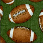 The Whole Nine Yards - Tossed Footballs on Green by Dan Morris