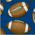 The Whole Nine Yards - Tossed Footballs on Blue by Dan Morris