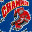 Hockey Champions on Royal Blue FLANNEL
