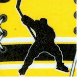 Hockey Collage in Yellow and Black FLANNEL