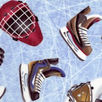 Love of the Game - Tossed Hockey Equipment on Ice