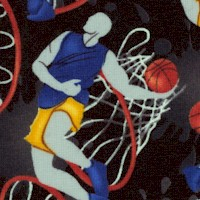 Love of the Game - Tossed Basketball Players on Black