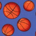 Tossed Basketballs on Blue
