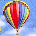 In Motion - Hot Air Balloons and Rainbows in the Sky-BACK IN STOCK!