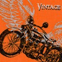 Retro Rider - Tossed Vintage Motorcycles by Rosemarie Lavin