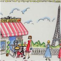 Paris Ville - Paris Street Scenes Vertical Stripe