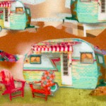 The Great Outdoors - Retro Campers by Connie Haley (Digital)