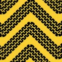 Cone Zone - Zig Zag Tracks on Golden Yellow