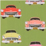 Club Havana - Vintage Cars on Lime by Patty Young