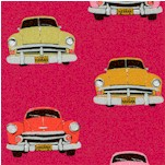 Club Havana - Vintage Cars on Raspberry by Patty Young