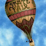 No Place Like Home - Tossed Vintage Hot Air Balloons (TR-hotairballoons-U939)