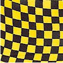 Hot Rod - Checkered Nascar Flag in Black and Yellow