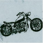 Comfy Flannel - Tossed Motorcycles on Gray FLANNEL - LTD. YARDAGE AVAILABLE