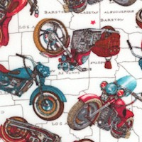Life's a Kick - Tossed Motorcycles on Maps