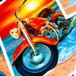 Tropical Motorcycle Postcards (TR-motorcycles-W727)