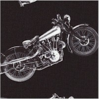 Tossed Motorcycles in Black and Silver