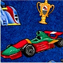 Speed Machine - Tossed Racecars, Flags and Trophies