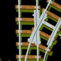 Train Tracks on Black - LTD. YARDAGE AVAILABLE (.42 YD) MUST BE PURCHASED IN FULL