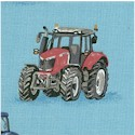 Farm - Tossed Farm Tractors on Blue