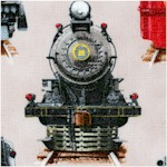 All Aboard - Steam Engines on Beige