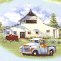 Vintage Trucks and Farmyard Scenes