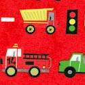 Ten Little Things - Trucks in Traffic on Red by Jen Ski