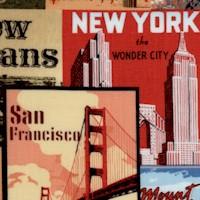 U.S. Vintage Travel Poster Collage