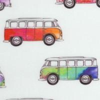 Magic Bus - Retro Mini-Vans on Ivory