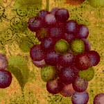Crush - Tossed Grapes #1 by Sue Zipkin
