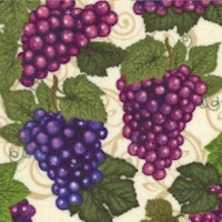 Over a Barrel - Tossed Bunches of Grapes by Dan Morris