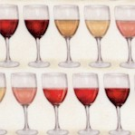Uncork and Unwind - Rows of Small-Scale Wine Glasses - TEMPORARILY OUT OF STOCK; PLEASE CHECK BACK