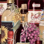Uncork and Unwind - Packed Wine Bottles by Mary Lake Thompson
