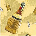 Wine Country - Tossed Wine Bottles, Corkscrews, Glasses and Corks on Chardonnay Grapes