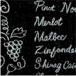 Wine Chalkboard Menu - LTD. YARDAGE AVAILABLE IN 3 PIECES