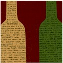 Vineyard Collection - Bottle Silhouettes on Burgundy