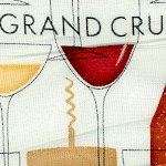Cheers!  Wine Bottles, Glasses and Corkscrews on Cream - LTD. YARDAGE AVAILABLE