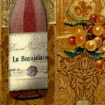 Vineyard Tapestry Wine Bottle