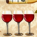 Vineyard Collection - French Wine Collage