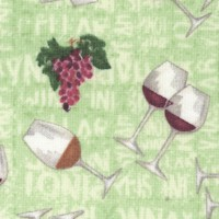From the Vine - Tossed Wine Glasses and Grapes on Green