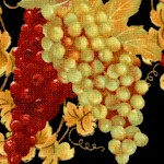 Wine A Little...Tossed Grapes on Black by Cynthia Coutler