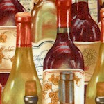 Wine A Little...Packed Wine Bottles by Cynthia Coutler - LTD. YARDAGE AVAILABLE