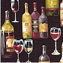 Gourmet Wine Bottles and Goblets on Black - BACK IN STOCK!