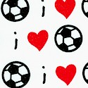 I Love Soccer by Kayla May - LTD. YARDAGE AVAILABLE