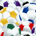 Packed Colorful Soccer Balls- LTD. YARDAGE AVAILABLE