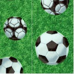 Sports - Tossed Soccer Balls on the Field